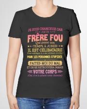JE SUIS CHANCEUX CAR J'AI UN FRERE FOU Premium Fit Ladies Tee garment-premium-tshirt-ladies-front-01