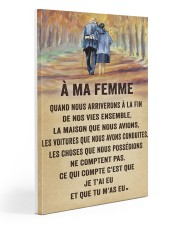 À MA FEMME  20x30 Gallery Wrapped Canvas Prints front