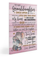 TO MY GRANDDAUGHTER 20x30 Gallery Wrapped Canvas Prints front