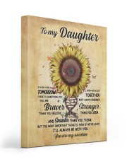 TO MY DAUGHTER 16x20 Gallery Wrapped Canvas Prints front