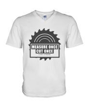 Measure Once Like a Boss V-Neck T-Shirt thumbnail
