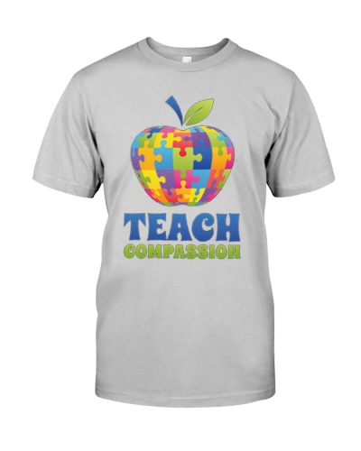 Cute Teach Compassion TShirt Autism Awareness Day