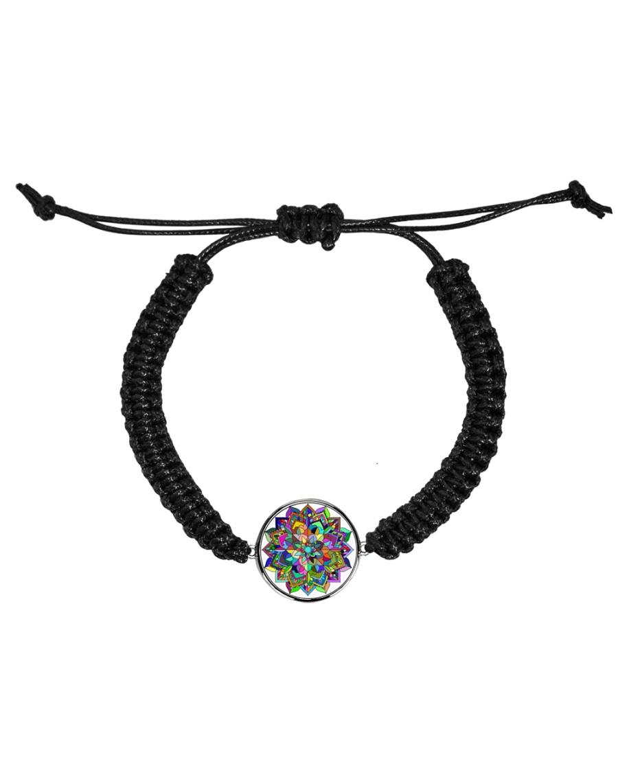 Mandala color light Cord Circle Bracelet