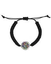 Mandala color light Cord Circle Bracelet front
