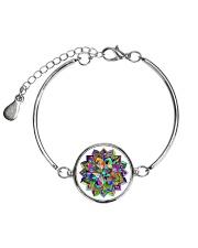 Mandala color light Metallic Circle Bracelet thumbnail