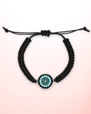 Cord Circle Bracelet Mandala green black Cord Circle Bracelet aos-bracelet-cord-front-lifestyle-2