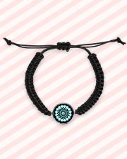 Cord Circle Bracelet Mandala green black Cord Circle Bracelet aos-bracelet-cord-front-lifestyle-3