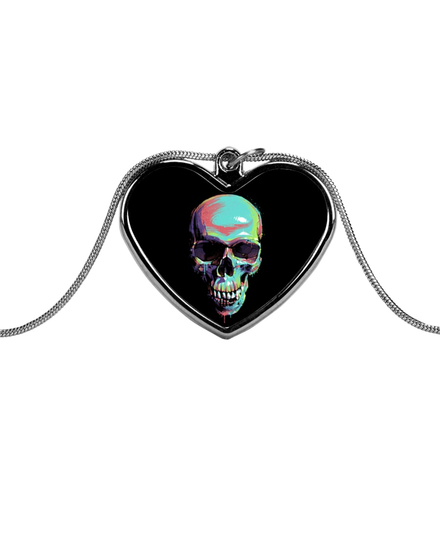 Skullers Necklace Skull IN-06 Metallic Heart Necklace