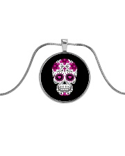 Skullers Necklace Skull-IN-02 Metallic Circle Necklace front