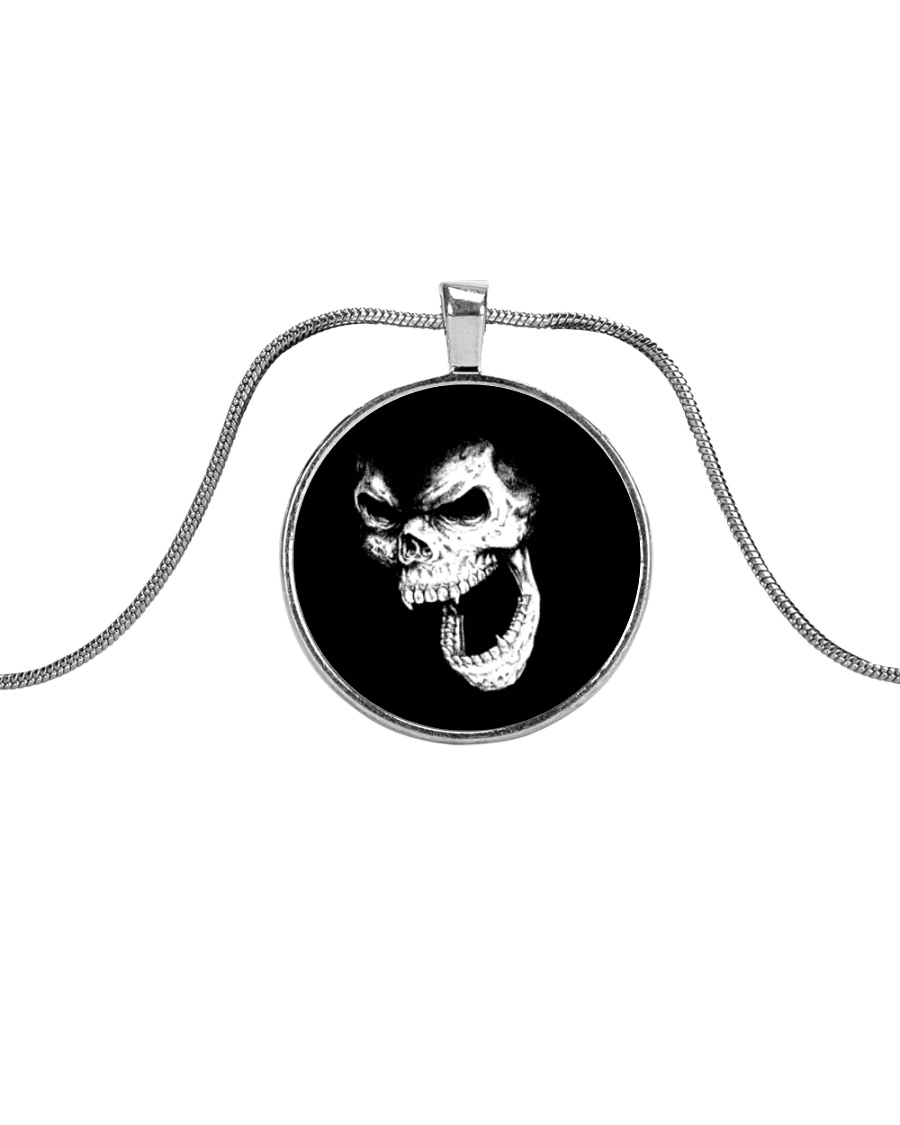 Skullers Necklace Skull IN-08 Metallic Circle Necklace