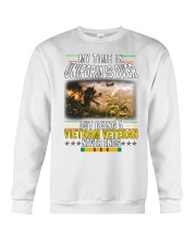 VIETNAM VETERAN NEVER ENDS Crewneck Sweatshirt thumbnail