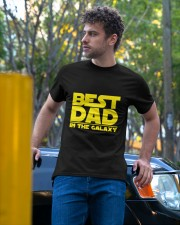 best dad in the galaxy Classic T-Shirt apparel-classic-tshirt-lifestyle-front-44