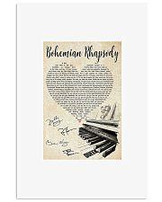 Piano Bohemian Rhapsody lyric poster 11x17 Poster front