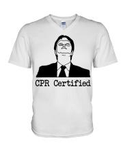 cpr certifi V-Neck T-Shirt thumbnail