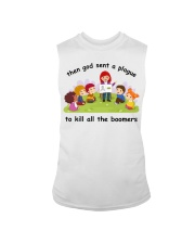 Then god sent a plague to kill all the boomers Sleeveless Tee thumbnail