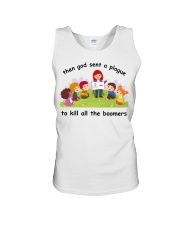 Then god sent a plague to kill all the boomers Unisex Tank thumbnail
