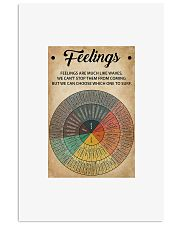 Feelings are much like waves pie chart poster 11x17 Poster front
