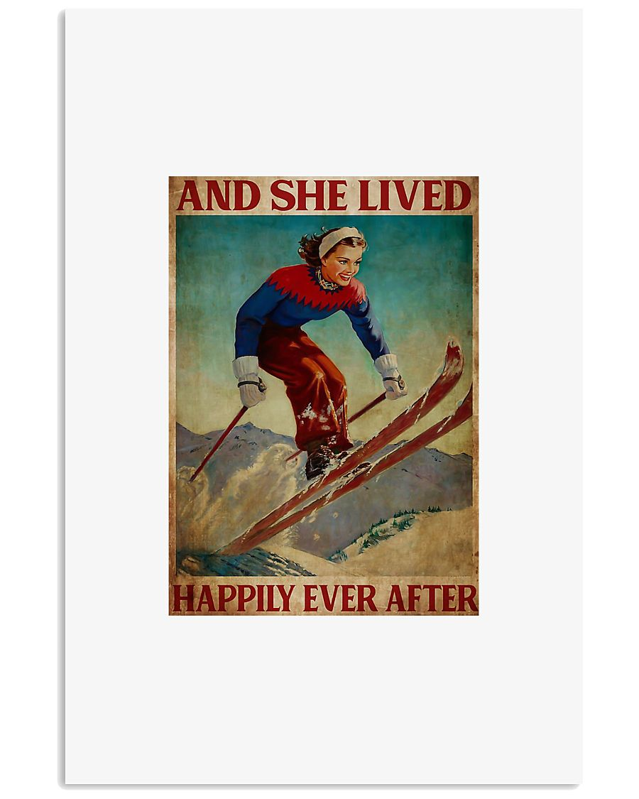 Skiing and she lived happily ever after poster 11x17 Poster