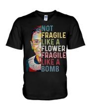 Not fragile like a flower fragile like a bomb V-Neck T-Shirt thumbnail