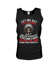 Let me get this straight you're afraid of refugee Unisex Tank thumbnail