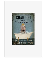 Shar Pei co bath soap wash your paws poster 11x17 Poster front