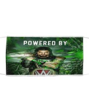 Powered by Roman Reigns face mask Cloth face mask front