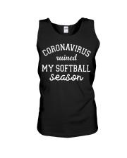 Coronavirus ruined my softball season shirt Unisex Tank thumbnail