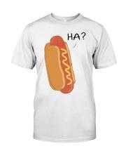 Hot dog cartoon HA  Classic T-Shirt front