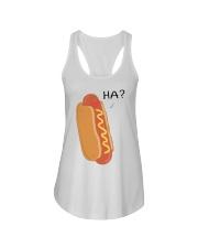 Hot dog cartoon HA  Ladies Flowy Tank thumbnail