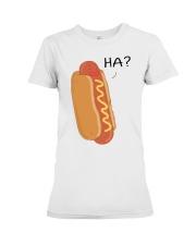 Hot dog cartoon HA  Premium Fit Ladies Tee thumbnail