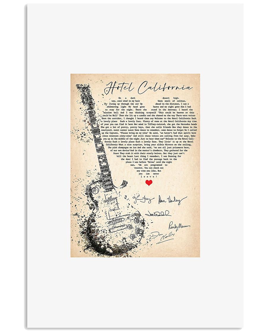 Hotel California lyrics signature poster 11x17 Poster