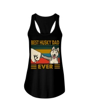 Best husky dad ever vintage shirt Ladies Flowy Tank thumbnail