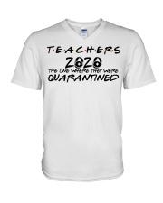 Teachers 2020 the one where they were quarantined  V-Neck T-Shirt thumbnail