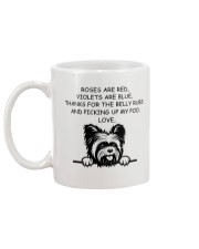 Yorkshire rose are red violets are blue mug Mug back