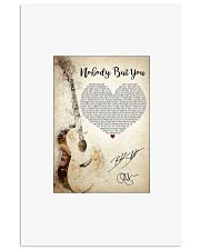 Nobody but you lyrics poster 11x17 Poster front