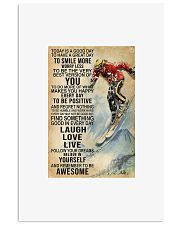 Skiing today is a good day to have a great day to  11x17 Poster front