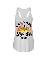 I survived toilet roll apocalypse 2020 shirt Ladies Flowy Tank thumbnail