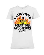 I survived toilet roll apocalypse 2020 shirt Premium Fit Ladies Tee thumbnail