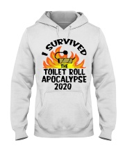 I survived toilet roll apocalypse 2020 shirt Hooded Sweatshirt thumbnail