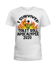 I survived toilet roll apocalypse 2020 shirt Ladies T-Shirt thumbnail