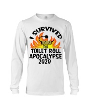 I survived toilet roll apocalypse 2020 shirt Long Sleeve Tee thumbnail