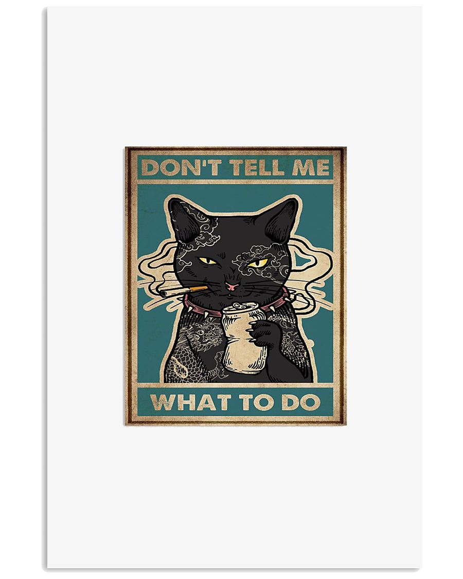 Tattoo black cat don't tell me what to do poster 11x17 Poster