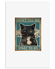 Tattoo black cat don't tell me what to do poster 11x17 Poster front