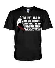 Take car go to store buy all the TP V-Neck T-Shirt thumbnail