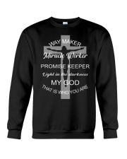 Jesus way maker miracle worker promise keeper Crewneck Sweatshirt thumbnail