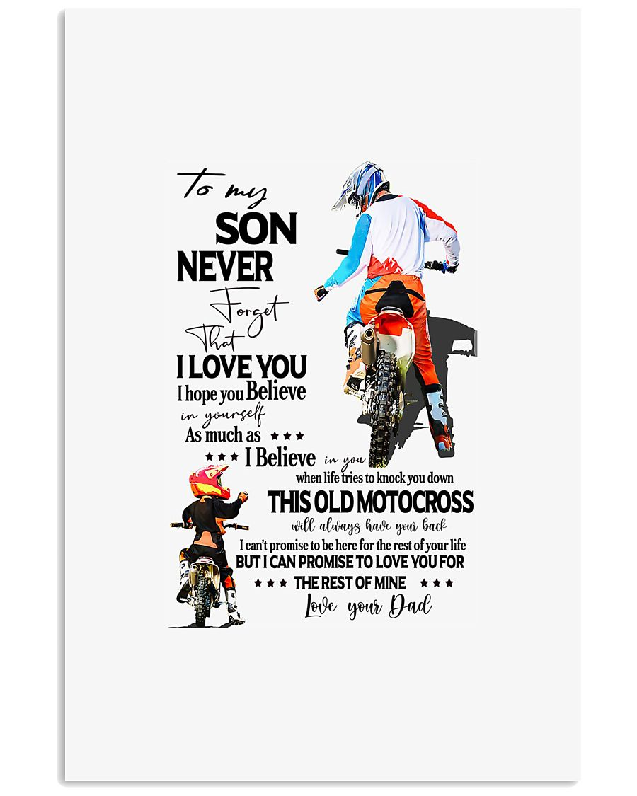 Rider to my son never forget that i love you i hop 11x17 Poster