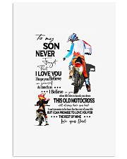 Rider to my son never forget that i love you i hop 11x17 Poster front