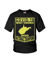 Covid 19 west virginia national champions 2020 Youth T-Shirt thumbnail