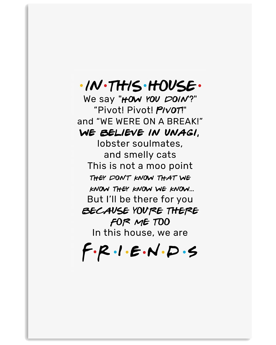 Friends tv show in this house we say how you doin  11x17 Poster