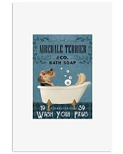 Airedale terrier co bath soap wash your paws poste 11x17 Poster front